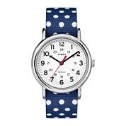 Timex® Weekender™ Slip Thru Womens Reversible Nylon Strap Watch TW2P660009J