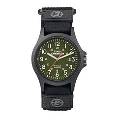 Timex® Expedition® Camper Mens Black Fabric Strap Watch TW4B001009J