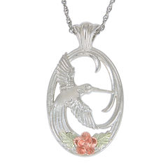 Black Hills Gold Jewelry by Coleman® Sterling Silver Hummingbird Pendant Necklace