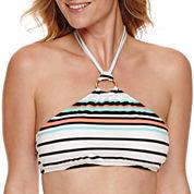 Liz Claiborne® Poolside High Neck Crop Bra or Side Sash Hipster