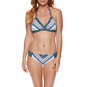 Liz Claiborne® Tropicana Blues Banded Halter or Side Sash Hipster