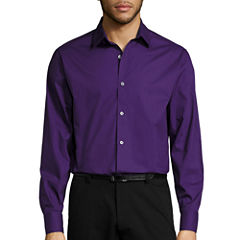 Claiborne® Long-Sleeve Solid Button-Front Shirt