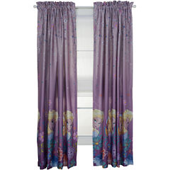 Disney Frozen Breeze Rod-Pocket Room-Darkening Curtain Panel