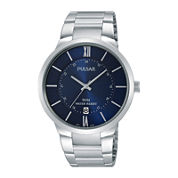 Pulsar® Mens Stainless Steel Watch PS9355X