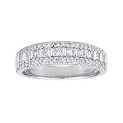 1/2 CT. T.W. Certified Diamond 14K White Gold Princess-Cut Band