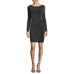 Blu Sage Long Sleeve Shift Dress