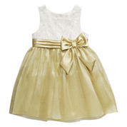 Young Land Sleeveless Bow Skirt Party Dress - Toddler