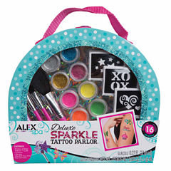 Alex Toys Spa Delux Sparkle Tattoo Parlor 30-pc. Beauty Toy