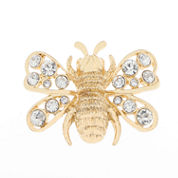 Liz Claiborne Bee Pin Clear And Goldtone