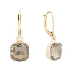 Monet Drop Brown Gold Earrings
