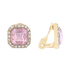 Monet Pink And Goldtone Clip Earring