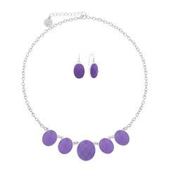 Liz Claiborne Womens 2-pc. Purple Jewelry Set