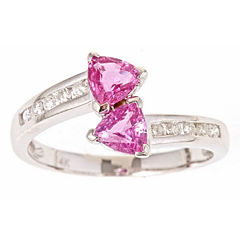 LIMITED QUANTITIES! Pink Sapphire 10K Gold Bypass Ring