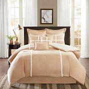 Madison Park Weston Suede Comforter Set