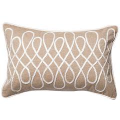Rectangle Bette Cotton Chambray Decorative Throw Pillow