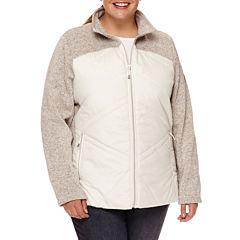 Zero Xposur® Hybrid Fleece Jacket - Plus