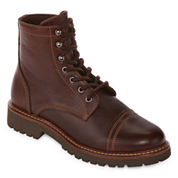 St. John`s Bay Sparks Mens Leather Lace Up Boots