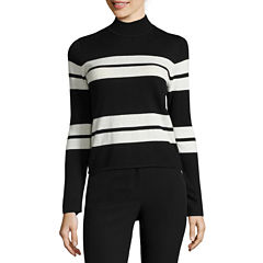 Worthington Long Sleeve Mock Neck Pullover Sweater
