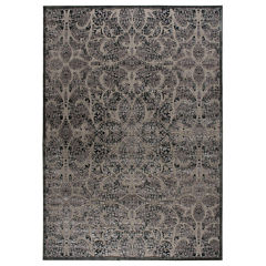Nourison® Lady Katherine High-Low Carved Rectangular Rug