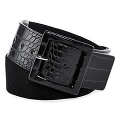 Liz Claiborne® Stretch Faux-Croc Belt