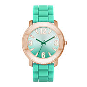 Womens Ombre Dial Silicone Strap Watch