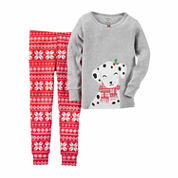 Carter's Girls Long Sleeve Pant Pajama Set-Toddler