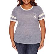 Arizona Short Sleeve T-Shirt-Juniors Plus