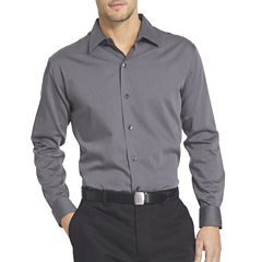 Van Heusen® Long-Sleeve Sateen Stripe Woven Shirt