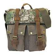 Realtree® Leather-Trim Canvas Crossbody Bag