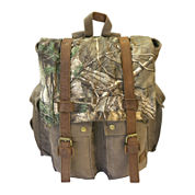 Realtree® Leather-Trim Canvas Backpack