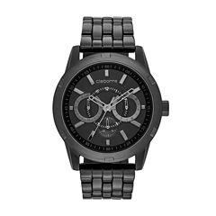 Claiborne® Mens Black Bracelet Watch