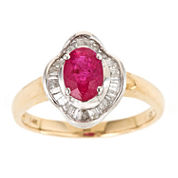 LIMITED QUANTITIES! Womens Red Ruby 14K Gold Bypass Ring