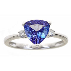 LIMITED QUANTITIES! 1/8 CT. T.W. Blue Tanzanite 14K Gold Cocktail Ring