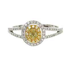 Womens 3/8 CT. T.W. Pear Yellow Diamond 14K Gold Engagement Ring