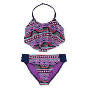 Total Girl Girls Pattern Bikini Set - Big Kid