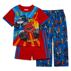 Blaze and the Monster Machines 3-pc. Pajama Set- Toddler Boys 2t-4t