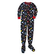 Boys Long Sleeve One Piece Pajama-Big Kid