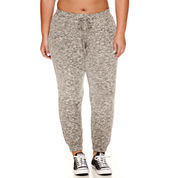 Flirtitude Cozy Fleece Jogger Pants- Juniors Plus