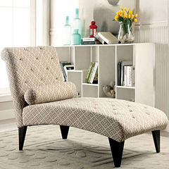 Faux Leather Chaise Lounge