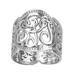 Personalized 18mm Script Monogram Ring