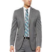 JF J. Ferrar® Gray Herringbone Stretch Suit Jacket - Slim Fit