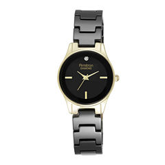 Armitron® Now® Womens Black Ceramic Dress Watch 75/5348BKGP