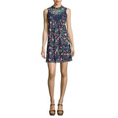 My Michelle Sleeveless A-Line Dress-Juniors