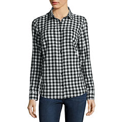 St. John's Bay® Talls  Flannel Shirt