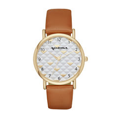 Arizona Womens Brown Strap Watch-Fmdarz135