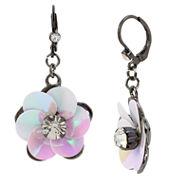 Bleu NYC Flower Drop Earrings