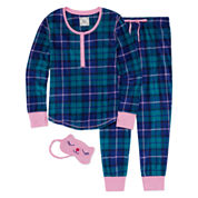 Pj Couture Fleece Pant Pajama Set-Juniors