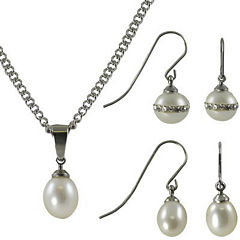 3-Pc. Cultured Freshwater Pearl Boxed Set