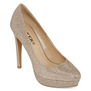 Bakers Sidnie Metallic Platform Pumps