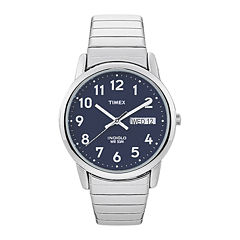 Timex® Easy Reader Mens Stainless Steel Expansion Strap Watch T200319J